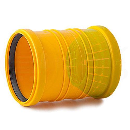Tube de drainage coudé en T - 50 mm de diamètre - Bouchon ou réducteur de 72 à 100 mm de diamètre - tube de fond de canal haute température - Clapet anti-retour - 45 °, 67 °, 90 °, Verbindungsmuffe Dränage / HT-KG, Ø 72 - 100 / Ø 110 mm HT-KG (MKK-12)
