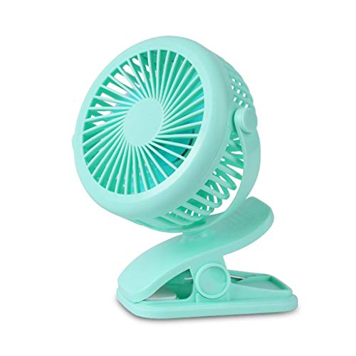 Btruely 2600mAh Leise Tischventilator Clip Fan, Mini USB Ventilator, Auto-Oszillierend, 360° Drehung Wiederaufladbarer Stufenloser Geschwindigkeit Lüfter für Auto Schlafzimmer Büro Kinderwagen
