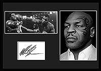 10種類! マイク・タイソン/Mike Tyson /サインプリント&証明書付きフレーム/BW/モノクロ/ディスプレイ/3W (05) [並行輸入品]