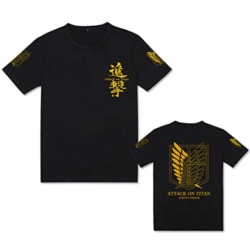 JFLY Attack On Titan Camiseta Unisex Casual Camiseta Anime Cosplay Camiseta Niños Ropa Verano Camisetas