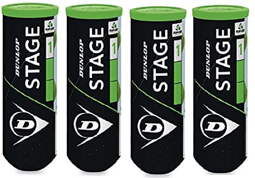 Dunlop Green Stage 1 12 Bälle 25% druckreduziert...