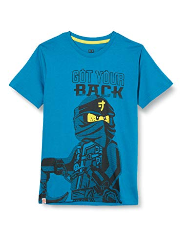 LEGO MW-T-Shirt Ninjago Camiseta, 763 Sea Turquise, 92 cm para Niños