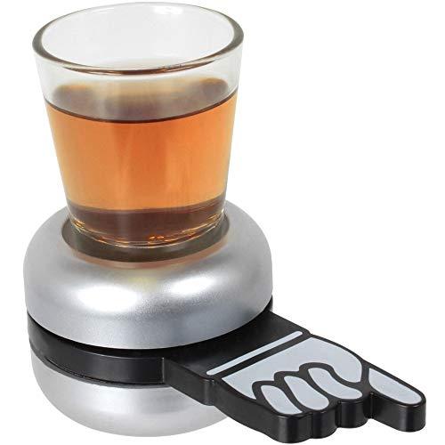 Wahou 39-2Q-011 Drinking Game - Juego de beber, plástico y cristal, 10 x 6,5 x 11,5 cm, color blanco, negro, gris y transparente