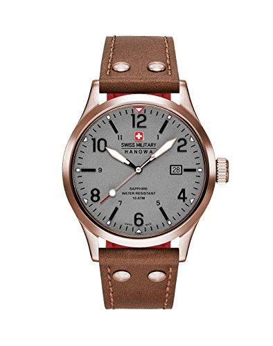 Swiss Military Hanowa Reloj Analógico para Hombre de Cuarzo con Correa en Cuero 06-4280.09.009CH