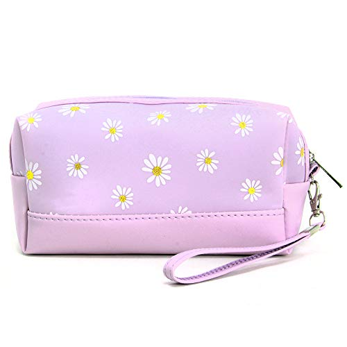 by you Portable Makeup case Cosmetic Bag Pouch Travel Organizer Toiletry Bags for Women (Daisy - Lavender)