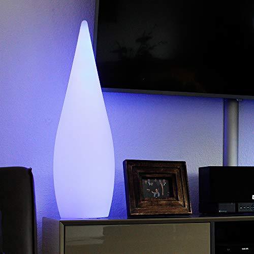 Arnusa Oasis Lights Design Stehlampe mit Fernbedienung, Moderne Lampe Beistelllampe Wellnesslampe Moderne Deko Leuchte Akku-Funktion, 16 Farben. Kabellos einsetzbar! Kegelleuchte (24x80cm)
