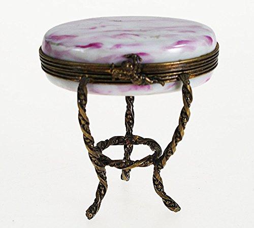 Porcelaine de Limoges- Tabelle Limoges-Porzellan-Box