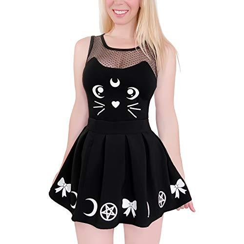 LittleForBig Cotton Romper Onesie Pajamas Bodysuit-Luna Onesie Skirt Set M