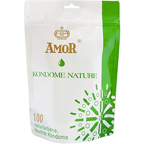 AMOR Premium Kondome, gefühlsecht und extra feucht (100, Nature)