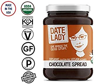 Date Lady Organic Chocolate Spread | Vegan, Paleo, Gluten-free & Kosher (1 Jar)