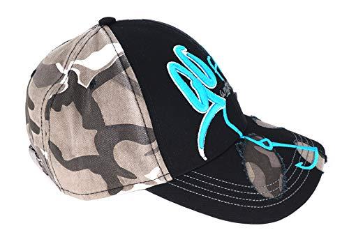 Hotspot Design Cap Go Fishing, Schwarz-camouflage, Angler Kappe, CP-GOFI01