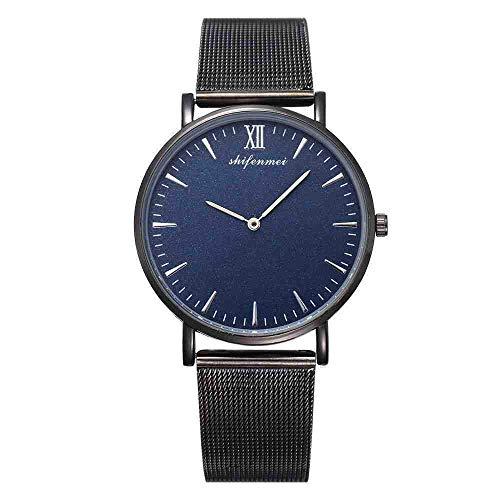 Exquisito, hermoso, decente, novedoso y único. Relojes de pulsera Hombres Relojes Deportivos Moda Strip Strip Strap Aleación Womens Watch Mens Reloj Amantes Amantes Relojes Relojes de pulsera Regalos,