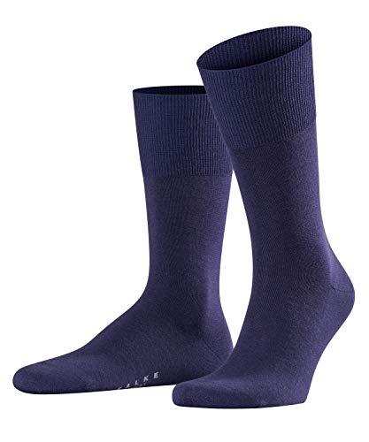 FALKE Herren Socken Airport, Merinowolle/Baumwollmischung, 1 Paar, Violett (Blueberry 6743), Größe: 45-46
