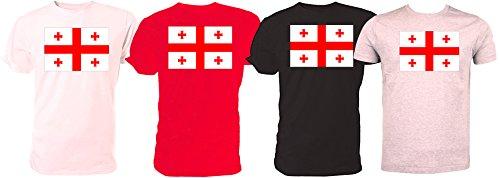 Flaggen-T-Shirt, Georgien, Rugby-Weltmeisterschaft, - Schwarz  - Größe: 5-6 Jahre kinder