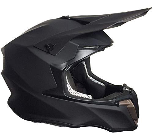 Crosshelm Motocross Enduro Helm Integralhelm Motorradhelm RALLOX 806 matt schwarz Größe L
