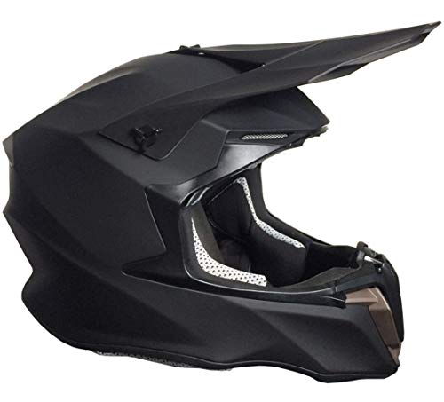 Crosshelm Motocross Downhill Enduro Helm Integralhelm Motorradhelm RALLOX 806 matt schwarz Größe S