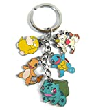 WinVI Pokeball Pikachu Collection Squirtle Bulbasaur Charmander 3.8' Keychain Key Ring Key Chain (Pokemon1)