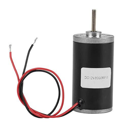 Motores de CC, imán permanente 31ZY 6V / 12V / 24V 3500-8000 RPM Motor de CC de imán permanente de alta velocidad CW/CCW para generador de bricolaje(12V8000)