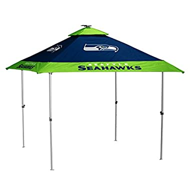 Logo Brands NFL Seattle Seahawks Pagoda Tent Pagoda Tent, Navy, One Size