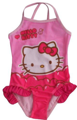 Hello Kitty - Costume da bagno per bambine, taglia 3/4/5/6/8 anni rosa chiaro 5 anni
