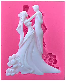 Bride and Groom Couple Silicone Fondant Mold For Wedding Cake Decorating Cake Topper Cupcake Chocolate mold