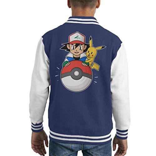 My Pokeball Ash and Pikachu Kid's Varsity Jacket