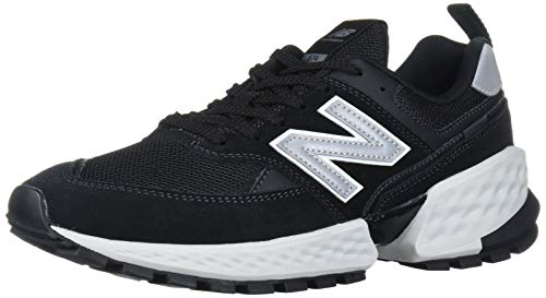 New Balance Men's Fresh Foam 574 Sport V2 Sneaker, Black/Silver Metallic, 8.5 D US