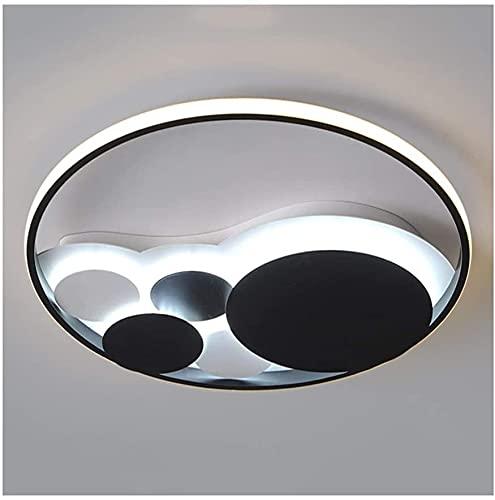 Luz de techo Moda moderna, Metal Acrílico LED Dimmable, Sala de estar Decoración Dormitorio Comedor Cocina Estudio Lámparas de techo Flush Mount (Color : Natural Light-42cm/47w)