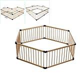 LYXCM Baby-Laufstall Faltbar, Baby-Laufstall 6 Panel Faltbar Kindersicherheits-Spielcenter Zaun Indoor Outdoor