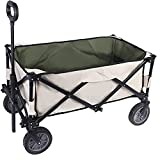 YOLER Grocery Cart with Wheels Collapsible Utility Wagon Heavy Duty Folding Beach Cart for Outdoor Sport Shopping Jardin Camping Pool Event