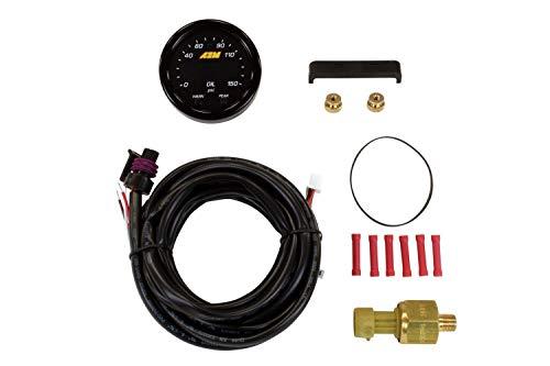 AEM 30-0307 X-Series Oil Pressure Gauge, Black