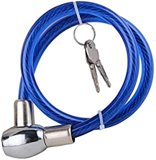 AOW Attractive Offer World Cable Lock for Bike, Helmet, Cycle & Luggage (Multipurpose Uses) Colour-Blue.