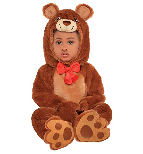 amscan 849927 Size 0-6 Months Baby Cuddle Bear Costume, Brown, New Born