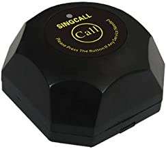 SINGCALL Wireless Calling System,Black Single Call Button, Guest Call Waiter System(APE560) It Can't Be Used Alone