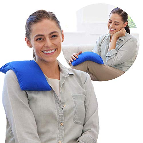 My Heating Pad Microwavable for Pain Relief | Moist Heat Pad for Cramps Muscles Joints Back Neck and Shoulders | Microwave Hot Pack | Heat Compress Pillow | Hot Cold Therapy  Blue
