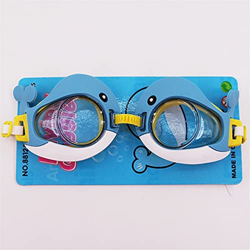 ZEWYXGS Gafas de natación Niños de Dibujos Animados Jugando en el Agua Piscina Agua Entretenimiento Banda Elástica Natación Gafas Equipo Niños Lindo Duradero (Color : A, Eyewear Size : One Size)