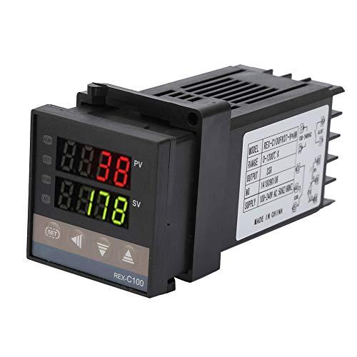 REX-C100 PID-temperatuurregelaar, 0~1300 00 Alarm digitale LED-thermostaatkit AC110V-240V