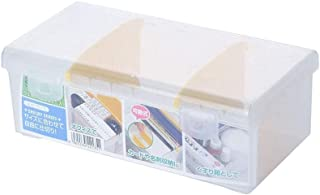 BBZZ Grande boîte de rangement avec couvercle, en plastique transparent, robuste, empilable, hermétique, séparé, organiseu...