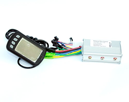 L-faster Bicicleta eléctrica Pantalla LCD con indicador de batería del Controlador del Motor Indicador de Velocidad del Motor 250W / 350W E-Bici DIY Display Kit(36V)