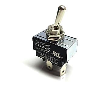 GAMA Electronics 30 Amp Toggle Switch SPST On-Off