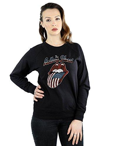 Rolling Stones Mujer Tour of America Camisa De Entrenamiento XX-Large Negro