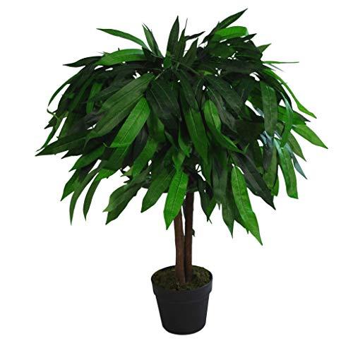 Leaf Design UK Plante doreille Artificielle en Plastique Noir 105 cm