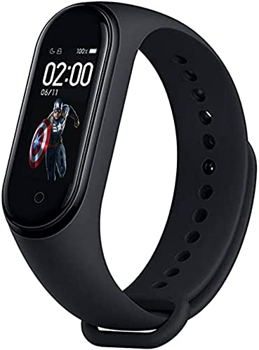 SHOPTOSHOP SM3 Smart Band Fitness Tracker Watch Heart Rate with Activity Tracker Steps Counter, Calorie Counter, Blood Pressure, Heart Rate Monitor LED Touchscreen, Black