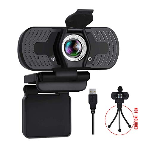 Aode Webcam 1080P Full HD Stereo Microphone USB Computer Web Camera Video Chat for Recording Streaming Gaming Conferencing Mac Windows PC Laptop Desktop Xbox Skype OBS Twitch YouTube Xsplit