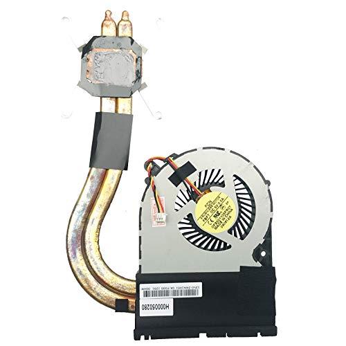 Ventilador de refrigeración con disipador de calor para Toshiba Satellite L850-1Q2, L850-161, C855-10T, L875-S7208, L875-11L, C55-A-11J (3 pines)