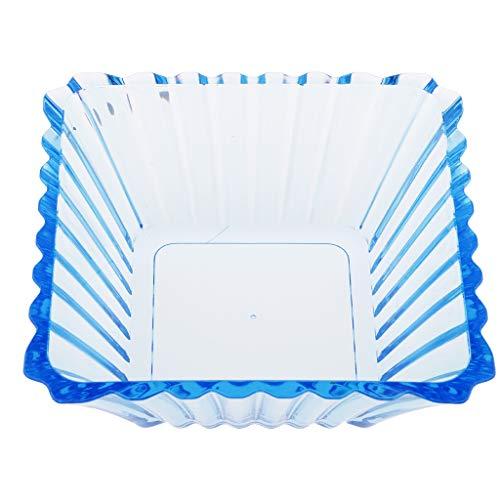 sharprepublic Platos de Acrílico del Tenedor del Bocado del Cuenco de La Ensalada/de La Fruta Barware para El Bar Casero del Partido - Azul, Individual