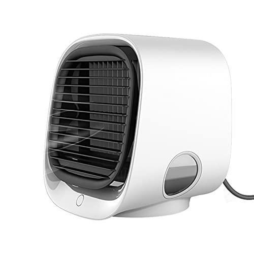 DONDOW Mini condizionatore d'aria portatile multi-funzione umidificatore purificatore USB desktop ventola di raffreddamento dell'aria con serbatoio acqua casa 5V umidificatore (colore : bianco)