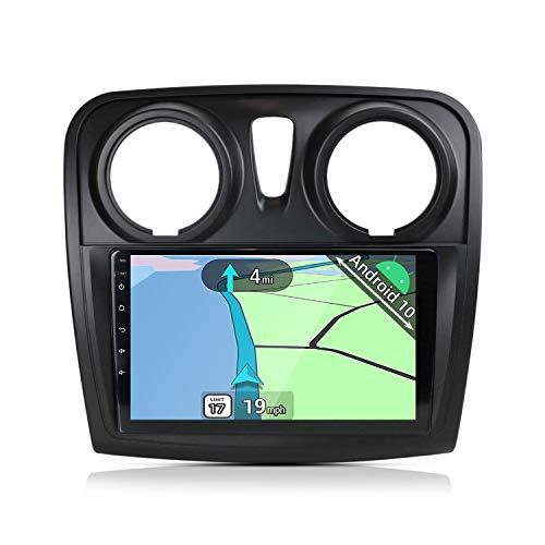 YUNTX Android 10 Autoradio Compatible avec Dacia/Sandero(2014-2017) - 9 Pouces - GPS 2 Din - Caméra arrière & Canbus GRATUITES -Soutien DAB/ Commande Au Volant / WiFi /Bluetooth 5.0/Mirrorlink/Carplay