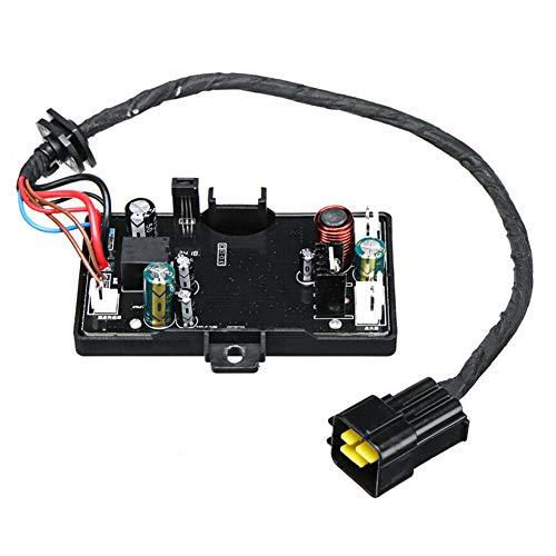 Placa de control de calefacción de coche, 12 V, 3 kW/5 kW, placa de control de estacionamiento, placa de calefacción, placa de placa de circuito de ventilación, accesorio de repuesto, Negro