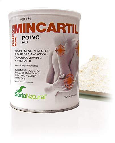 Soria Natural - MINCARTIL REFORZADO - Complemento alimenticio - Protege huesos cartilagos y articulaciones - 300 gr - Cúrcuma y aminoácidos